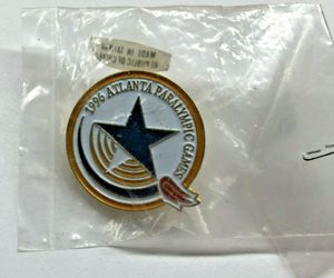 Vintage New in Package 1996 Atlanta Paralympic Games Olympic Trading Lapel Pin, an item from the 'Paralympic Souvenirs' hand-picked list