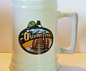 2014 Oktoberfest Mug Stein Leavenworth WA. Ceramic Warsteiner Paulaner .75 Liter, an item from the 'Oktoberfest' hand-picked list