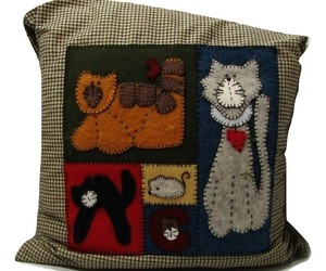 Hand Made Cat  Pillow , an item from the 'Preying Kitties...' hand-picked list