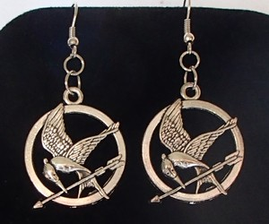 Hunger Games Mockingjay Bird Handmade Tibetan Silver Earrings Dangle Drop New , an item from the 'Community Picks: Spring has sprung' hand-picked list