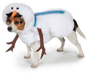 Mustache Snowman Dog Costume , an item from the 'Dog Costumes and Toys' hand-picked list