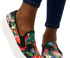 Wild Diva Rayka-01 Lug Sole Slip On Platform Sneaker, Black/Multi Floral, US 6.5, an item from the 'Summer Sneaks' hand-picked list