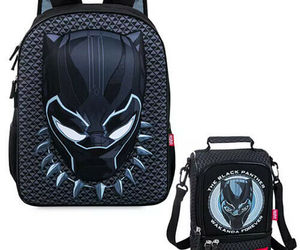 Disney Store Black Panther Backpack & Lunch Tote Box Marvel School Tote Bag Set, an item from the 'It's in the Bag - Backpacks' hand-picked list