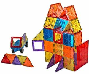 Magnet Tiles Mag-Genius Magna Award Winning Building Magnetic toy 108/pc + Bin, an item from the 'Stuck On You....' hand-picked list