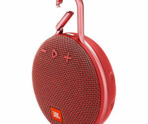 JBL Clip 3 Rechargeable Waterproof Portable Bluetooth Speaker Red, an item from the 'Travel Must-Haves' hand-picked list