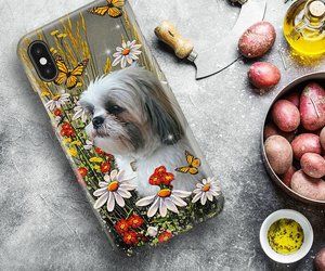 Shih Tzu Butterfly Phone Case Full Sizes, an item from the 'I Shih-Tzu Not' hand-picked list