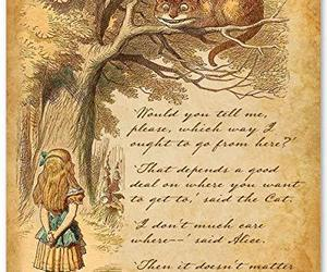 Alice Speaks to Cheshire Cat - 11x14 Unframed Alice in Wonderland Print- Great G, an item from the 'We're All Mad Here' hand-picked list