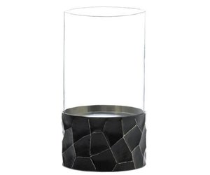 Gramercy Black Hurricane Candleholder, an item from the 'Valentine's Day Perfect Gift' hand-picked list