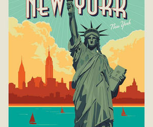 """36"""" X 44"""" Panel Lady Liberty Statue of Liberty New York Cotton Fabric D782.61, an item from the 'Community Picks: Lady Liberty' hand-picked list"""