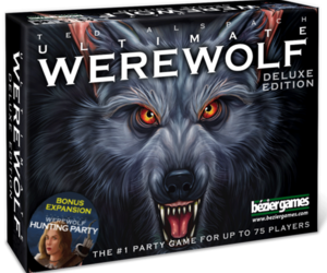 Ultimate Werewolf Deluxe Edition Boardgame 75 Players Party Game Bonus Expansion, an item from the 'Halloween Party Games' hand-picked list