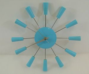 Vintage Clock Cool Blue 1-Foot Made in Taiwan 1.5V Tested & Working Wall Clock, an item from the 'It's TIME to Spring Forward' hand-picked list