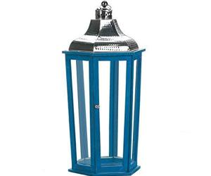 Nikki Chu Home Azul Beach Large Lantern, an item from the 'Valentine's Day Perfect Gift' hand-picked list