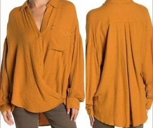 new Free PEOPLE women shirt OB1013618 7700 Autumn Pearl brown We The Free S, an item from the 'Fabulous Fall Fashions' hand-picked list
