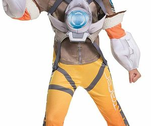 Kids' Overwatch Tracer Deluxe 3 Piece Halloween Costume L 10-12 Disguise, an item from the 'Kids Halloween Costumes' hand-picked list