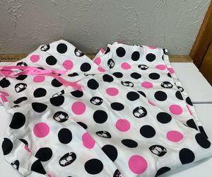 Sonoma Womens White  Black Pink Polka Dot OWL Pajamas pants Womens size XL, an item from the 'Connecting the dots' hand-picked list