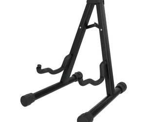 Protable Folded Stand Adjustable Steel Plastic for 1/8-4/4 scale Cellos Black, an item from the 'Music Lessons' hand-picked list
