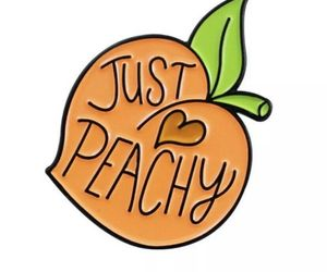 Just Peachy Enamel Pin Lapel Brooch Peach Fruit Juicy, an item from the 'Community Picks: Just Peachy' hand-picked list
