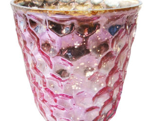 "2.75"" H Votive In Pink Antique Mercury, an item from the 'Valentine's Day Perfect Gift' hand-picked list"