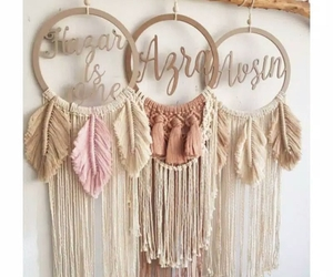 Personalized Macrame, Boho Macrame, Macrame, Free name request, wall decor, Rust, an item from the 'Cool Stuff' hand-picked list