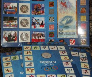 Olympic and XI Paralympic winter games of 2014 in Sochi. Album and coins., an item from the 'Paralympic Souvenirs' hand-picked list