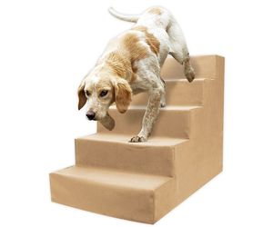 Precious Tails High Density Foam 5 Step Pet Stairs in Camel, an item from the 'Love Dogs?' hand-picked list