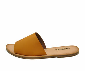 Soda SANSA-S Light Tan Women's Open Toe Slip On Slide Sandals, an item from the 'Sweet Summer Sandals' hand-picked list