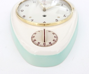 WEHRLE Wall Clock KITCHEN Timer ORIGINAL KEY! Vintage 1950s German Ceramic/Glass, an item from the 'It's TIME to Spring Forward' hand-picked list