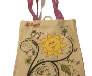 Kellogg's Reduce Reuse Recycle Plant Sunshine Tote Bag Shopping Bag Shoulder Bag, an item from the 'Community Picks: Earth Day..Recycle, Reuse, Reduce' hand-picked list