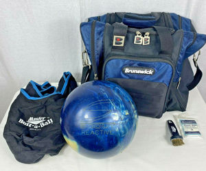 Columbia 300 Scout Reactive Bowling Ball Blue w/ Yellow Dot 13.8 Pounds & Bag, an item from the 'Community Picks: Sporty Dad' hand-picked list
