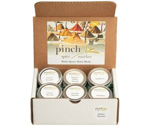 Indian Masalas Gift Box | 6 Authentic Indian Spice Blends, an item from the 'Happy Diwali' hand-picked list