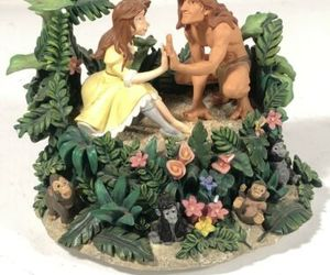 Tarzan Jane Music Box Westland Giftware Strangers Like Me Disney Display 2Worlds, an item from the 'A Story-Book Romance...' hand-picked list