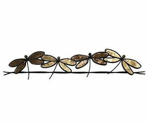 Eangee Home Designs Metal Handcrafted Dragonflies On A Wire Wall Decor Brown ..., an item from the 'Cool Stuff' hand-picked list