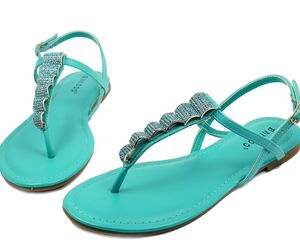 Josalyn-19 Precious Stone Flats Cute Sandals Gladiator Party Women Shoes Mint, an item from the 'Sweet Summer Sandals' hand-picked list