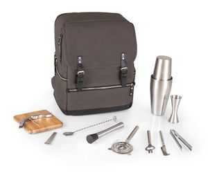 Picnic Time Bar-BackPack Portable Cocktail Tote in Grey, an item from the ' Pic·nick·ing' hand-picked list