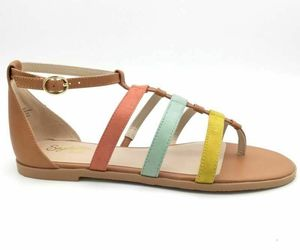 Seychelles Womens Sandals Contribution Multi Suede Flat NB06871 Leather 9.5 New, an item from the 'Sweet Summer Sandals' hand-picked list