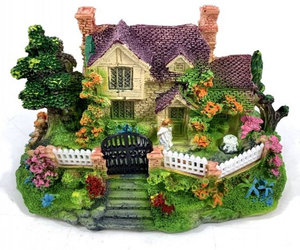 1Pcs Mini Resin House Miniature House Fairy Garden Micro Landscape Home Garden D, an item from the 'Community Picks: Believe in Mystical Magic' hand-picked list