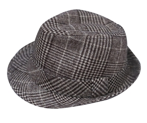 Towilliamsnya Check wool felt hat small top hat jazz hat, an item from the 'Father's Day Finds' hand-picked list