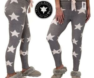 Honeydew Women's Chenille Lounge Leggings Gray (Stars) XXL Polyester NWT, an item from the 'Rockstars' hand-picked list