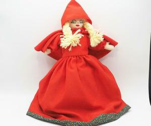 Vintage Interchangeable Hand Puppet Little Red Riding Hood Big Bad Wolf Grandma, an item from the 'Time For A Change...' hand-picked list