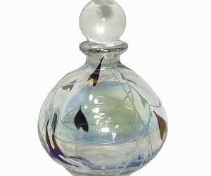 Silvestri Handblown Perfume Bottle with Stopper Iridescent Studio Art Glass , an item from the 'I'm Blown Away..' hand-picked list