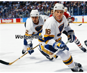 NHL St.Louis Blues Brett Hull Adam Oates Game Action Color 8 X 10 Photo Picture, an item from the 'Community Picks: St. Louis Blues' hand-picked list