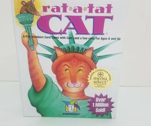 Rat a Tat Cat Numbers Card Game Gamewright Ages 6+ USA Complete, an item from the 'Year of the Rat' hand-picked list