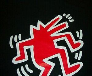 KEITH HARING Dancing Dog Pop Art T-Shirt MENS 2XL XXL NEW w/ TAG, an item from the 'Keith Haring' hand-picked list