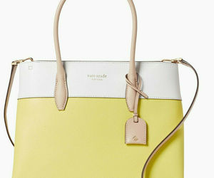 Kate Spade Eva Satchel Crossbody Yellow Leather WKRU6760 NWT Retail White, an item from the 'Handbags for Her' hand-picked list