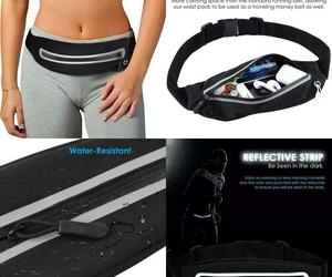 Ponray Running Belt Fanny Packs Phone Holder Runner Pocket For Workout Fitness W, an item from the 'Fitness Focus' hand-picked list