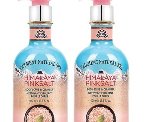 Avon Veilment Natural Spa Himalaya Pink Salt Body Scrub & Cleanser x2, an item from the 'Self Care' hand-picked list
