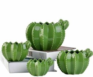Ceramic Cactus Flower Pot Creative Plant Sculpture Craft Succulent Home Decor , an item from the 'Indoor Garden' hand-picked list