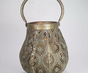 Metal Moroccan Style Candle Lantern w/LED Candle , an item from the 'Valentine's Day Perfect Gift' hand-picked list