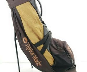 Vintage Taylormade Golf Cart Bag 4 Divider Gold Black , an item from the 'Golf Essentials' hand-picked list
