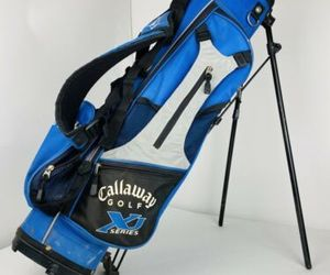 Callaway XJ Series Youth Kids Carry Golf Bag Dual Strap Harness Stand Blue Grey, an item from the 'Golf Essentials' hand-picked list